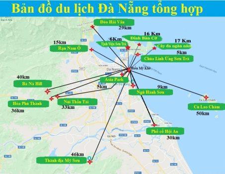 bảng đồ du lịch đà nẵng