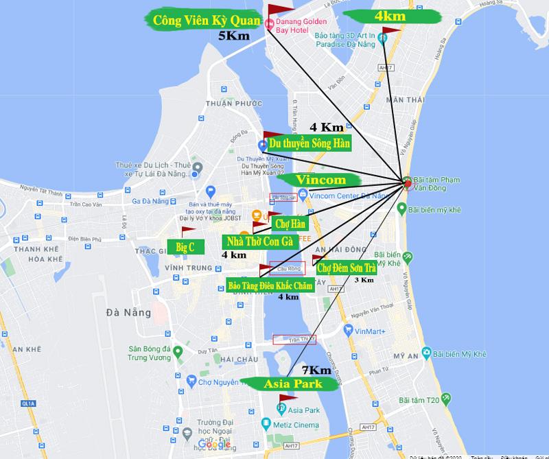 bản đồ địa điểm đi chơi đà nẵng